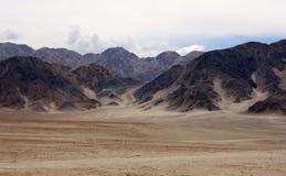 干燥山在Leh,拉达克 库存图片