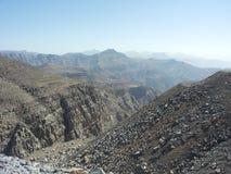 干燥山的范围 免版税库存照片