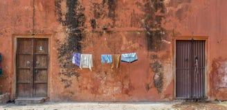 干燥布料在印度 免版税图库摄影