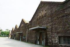 干燥常春藤覆盖的房子 免版税图库摄影