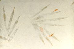 干燥手工制造叶子纸张 库存照片