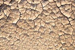 干燥无生命的破裂的土壤纹理 免版税库存照片