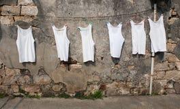 干燥星期日坦克汗衫 免版税库存图片