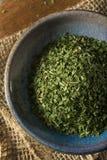 干燥有机绿色荷兰芹剥落 图库摄影