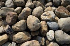 干燥河床鹅卵石 免版税库存照片