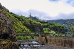 干燥河床,马德拉岛,葡萄牙 免版税图库摄影
