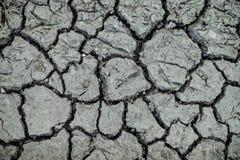 干燥泥地面破裂 免版税库存图片