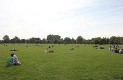 干燥海德伦敦长的公园风暴夏天 库存照片