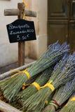干燥淡紫色花束在普罗旺斯 免版税库存照片