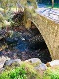 干燥的小河 库存照片