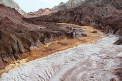 干燥矿物河 免版税库存图片