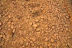 干燥破裂的地球纹理 库存图片