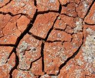 干燥破裂的地球-离开-全球性变暖 免版税库存图片