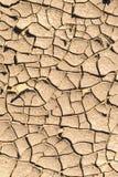干燥破裂的地面,加利福尼亚 免版税库存照片