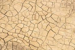干燥破裂的地面,加利福尼亚 免版税图库摄影