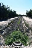 干燥老的灌渠好和 库存照片