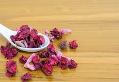 干燥花指定的在温泉的一个好气味用途和有益于深深睡觉 图库摄影