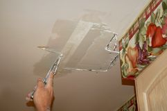 干燥补丁程序墙壁 免版税库存照片