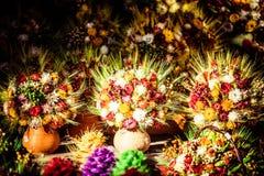 干燥雏菊花束在扎科帕内  免版税库存照片