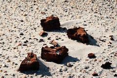干燥黏土沙子 免版税库存照片