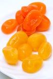 干燥黄色和橙色cumquat 免版税库存图片