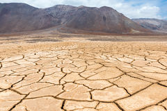 干燥破裂的地球,阿塔卡马在智利 免版税库存图片
