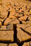 干燥破裂的地球-沙漠 免版税库存图片