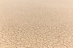 干燥破裂的黏土湖床自然纹理  库存图片