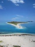 干燥tortuga佛罗里达海滩白色沙子海岛 库存照片