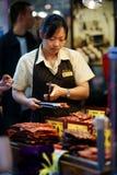 干猪肉内圆角,澳门。 免版税图库摄影
