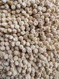 干玉米或玉米棒子被堆积使用作为燃料为柴火, Ha Kome洞家,莱索托,南部非洲 库存图片