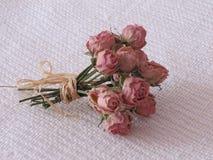 干玫瑰花束  免版税图库摄影