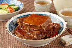 干用卤汁泡的豆腐 免版税库存照片