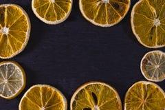 干的柑橘 免版税库存照片