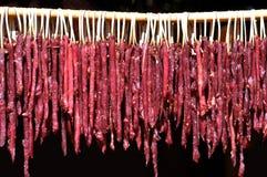 干的牛肉在阳光下 免版税库存照片
