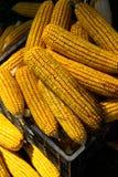 干的玉米条板箱 图库摄影