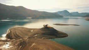 干盐湖在法国阿尔卑斯 股票视频