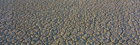 干盐湖河床在莫哈韦沙漠 免版税库存照片