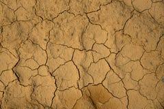 干破裂的地球土壤地面纹理背景 免版税图库摄影