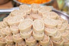 干米饭团豆和椰子 库存图片