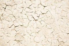 干粗砺的泥,破裂的表面,纹理背景 库存照片