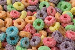 干糖被涂上的水果的调味的谷物关闭视图 库存图片