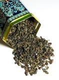 干绿茶 免版税库存照片