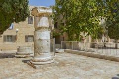 干耶路撒冷亚麻制纯街道街道 图库摄影