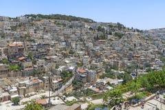 干耶路撒冷亚麻制纯街道街道 免版税库存图片