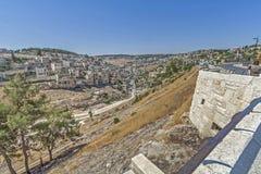 干耶路撒冷亚麻制纯街道街道 库存图片