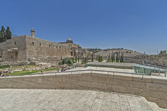 干耶路撒冷亚麻制纯街道街道 免版税图库摄影