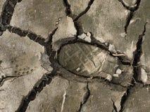 干脚步土壤 免版税库存照片
