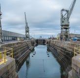 干船坞在江边开普敦 免版税库存照片
