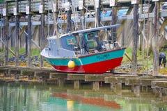干船坞渔船 图库摄影